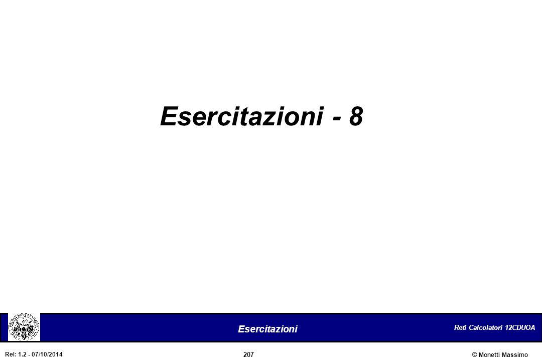 Esercitazioni - 8