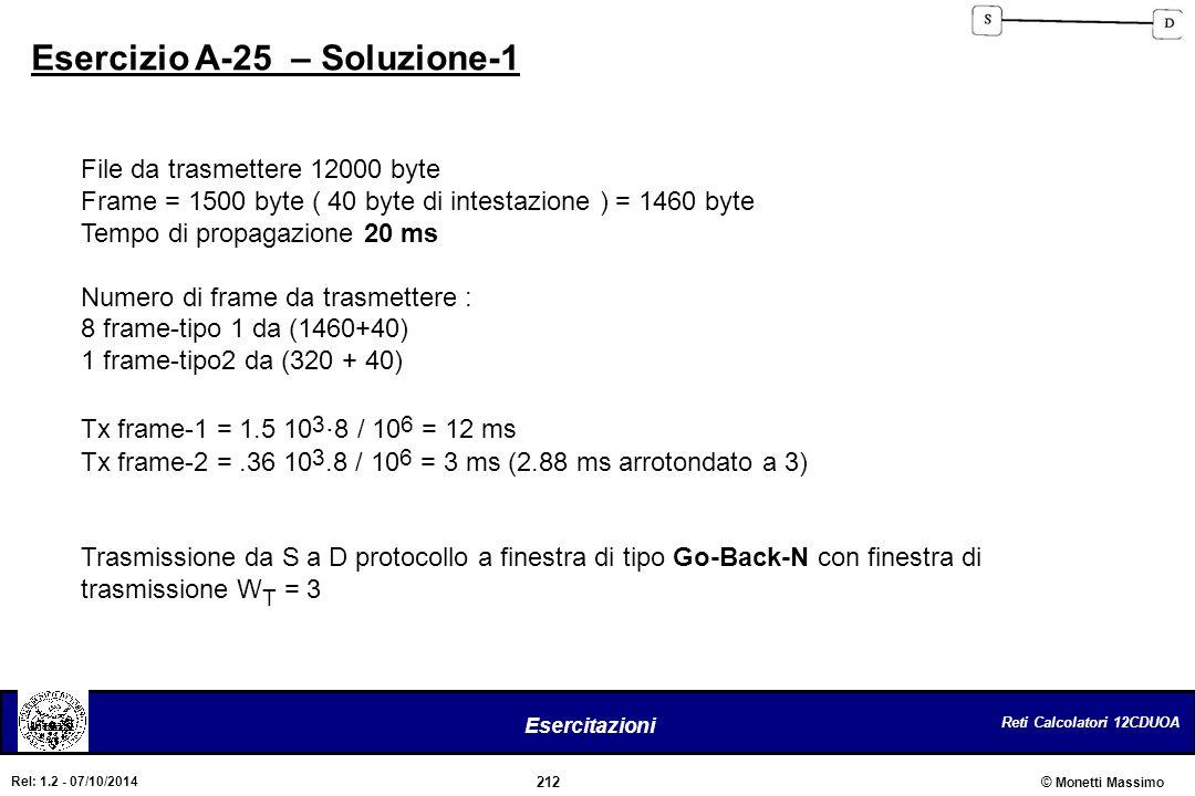 Esercizio A-25 – Soluzione-1
