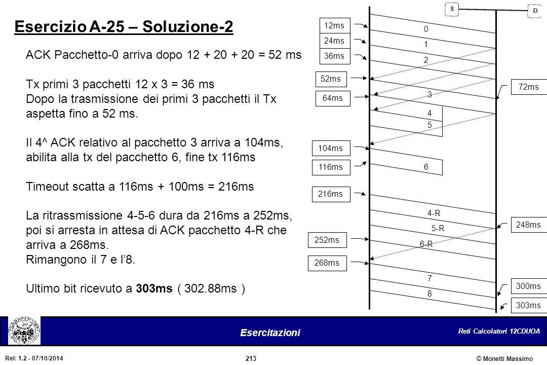 Esercizio A-25 – Soluzione-2
