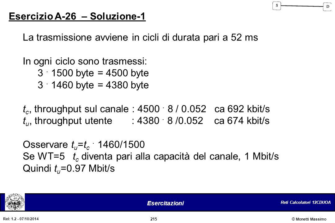 Esercizio A-26 – Soluzione-1