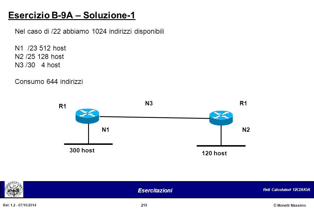 Esercizio B-9A – Soluzione-1