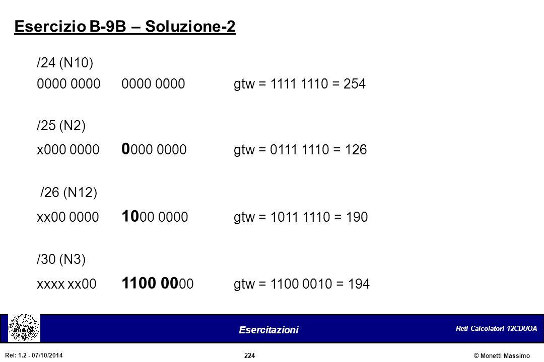 Esercizio B-9B – Soluzione-2