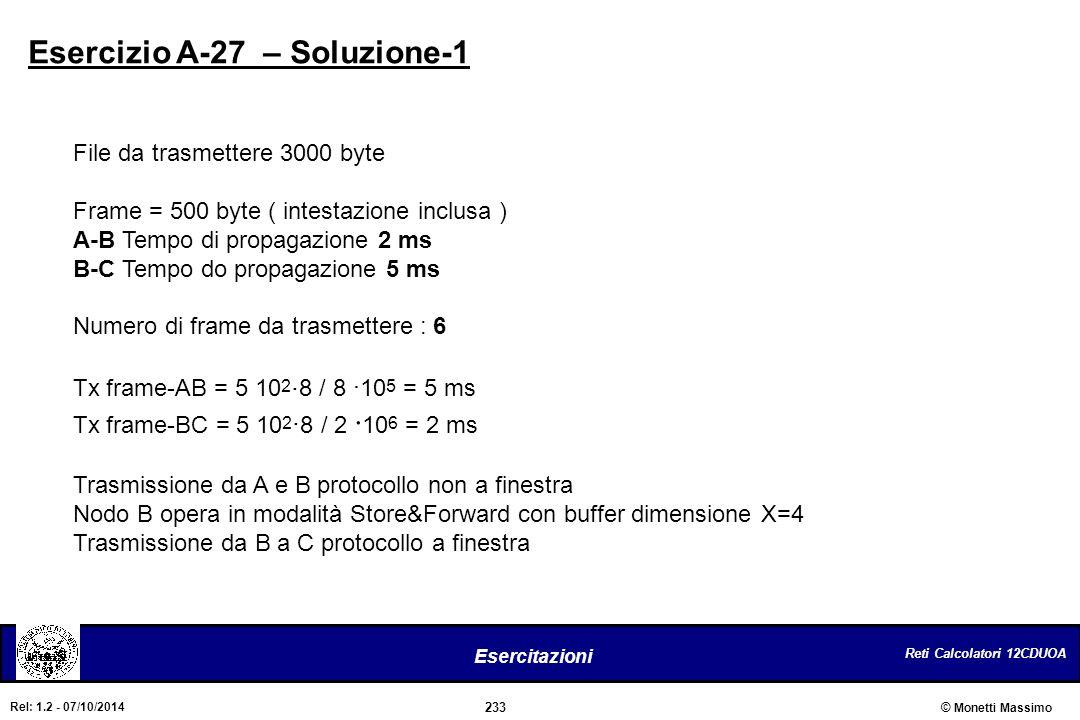 Esercizio A-27 – Soluzione-1