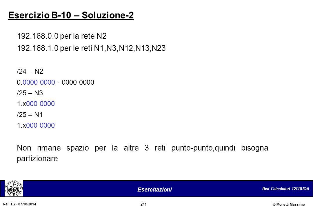 Esercizio B-10 – Soluzione-2