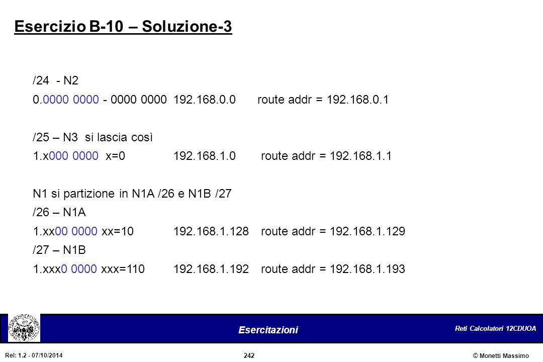 Esercizio B-10 – Soluzione-3