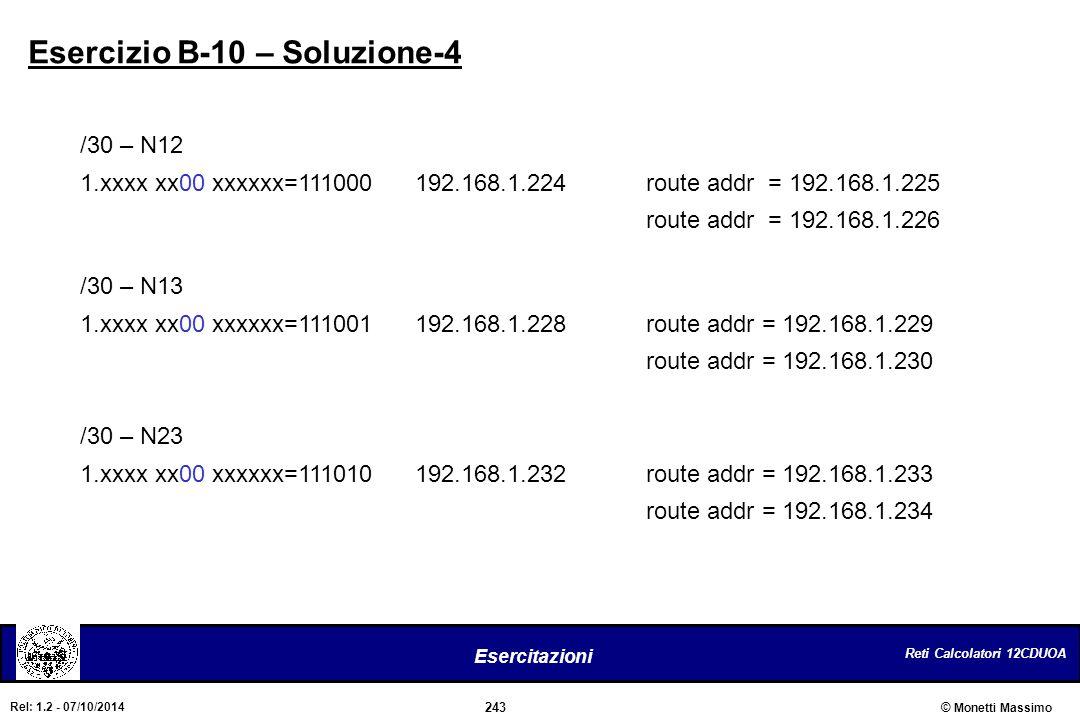 Esercizio B-10 – Soluzione-4