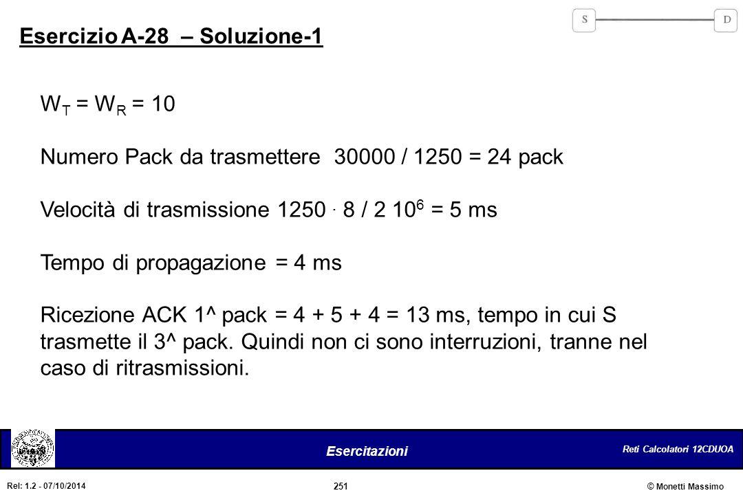 Esercizio A-28 – Soluzione-1