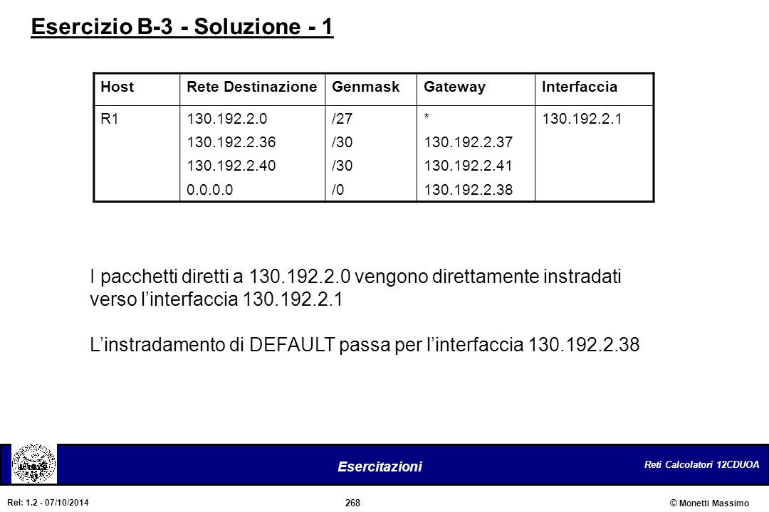 Esercizio B-3 - Soluzione - 1