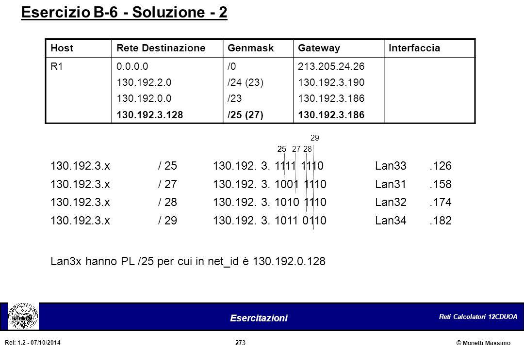 Esercizio B-6 - Soluzione - 2