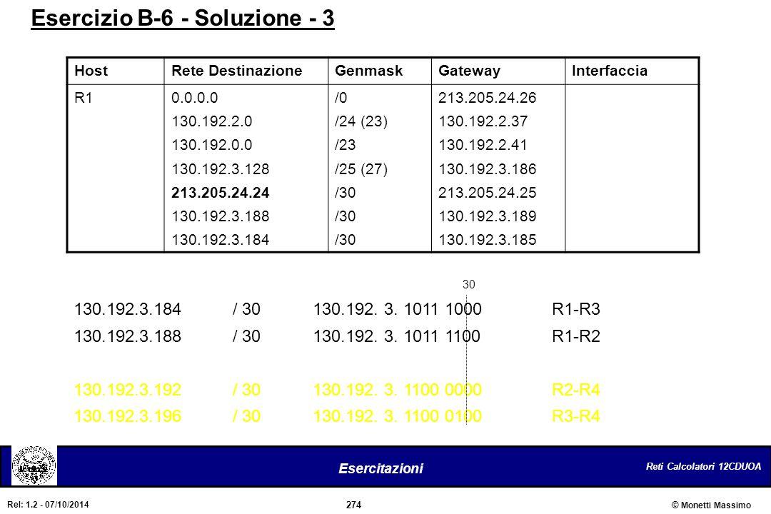 Esercizio B-6 - Soluzione - 3