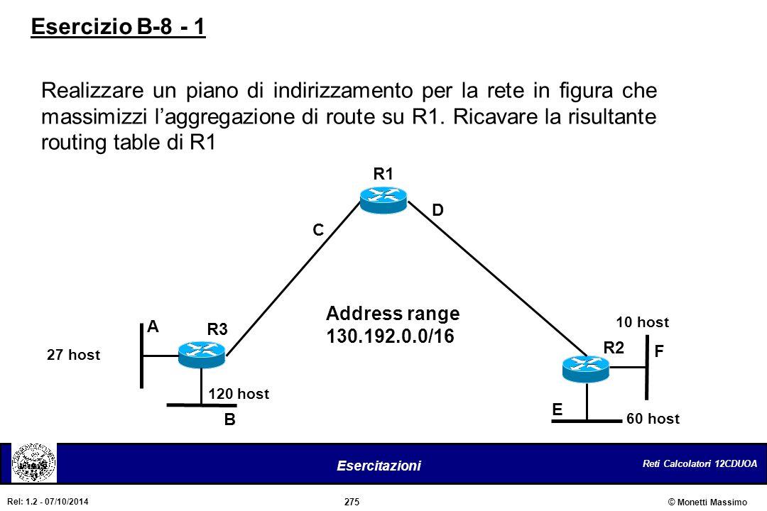 Esercizio B-8 - 1