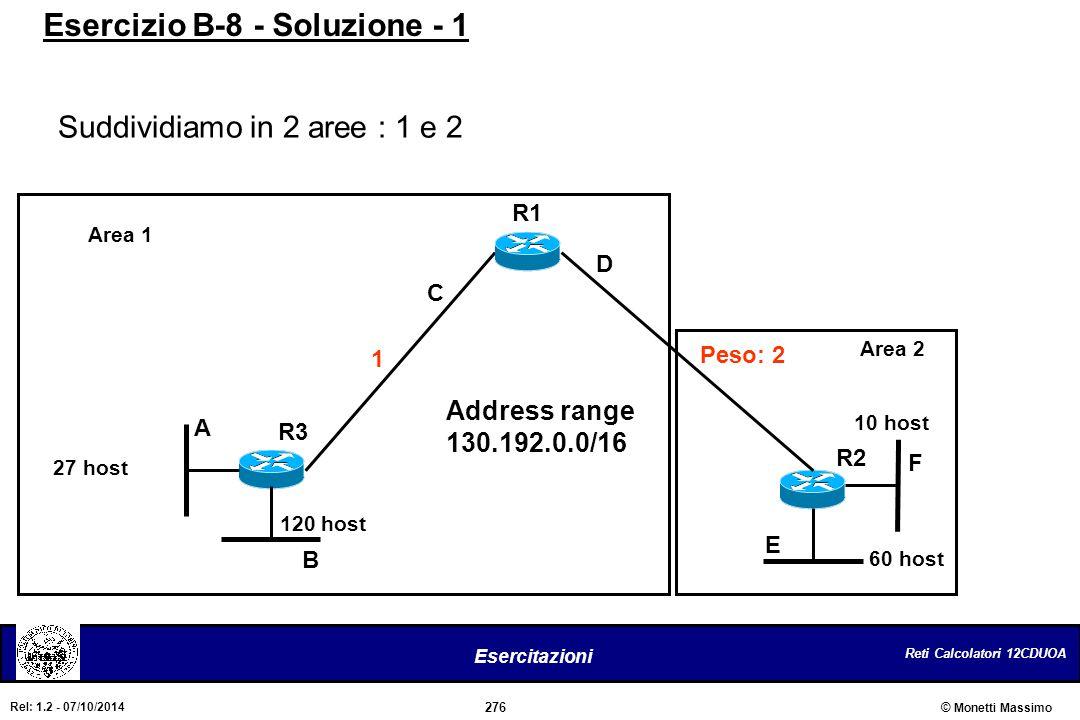 Esercizio B-8 - Soluzione - 1