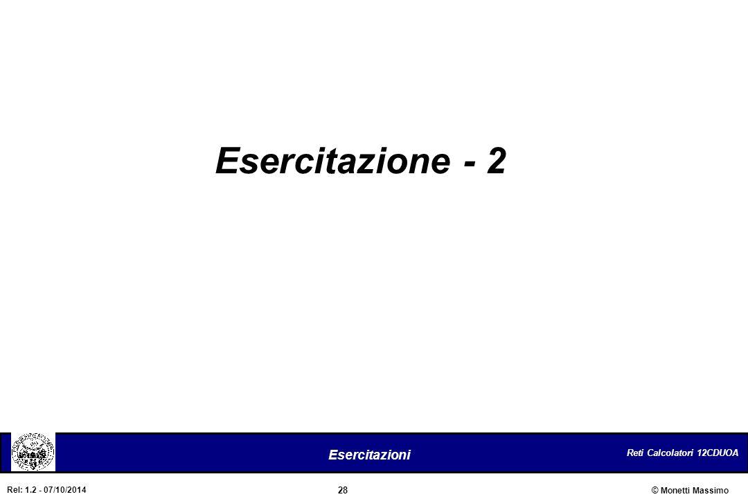 Esercitazione - 2