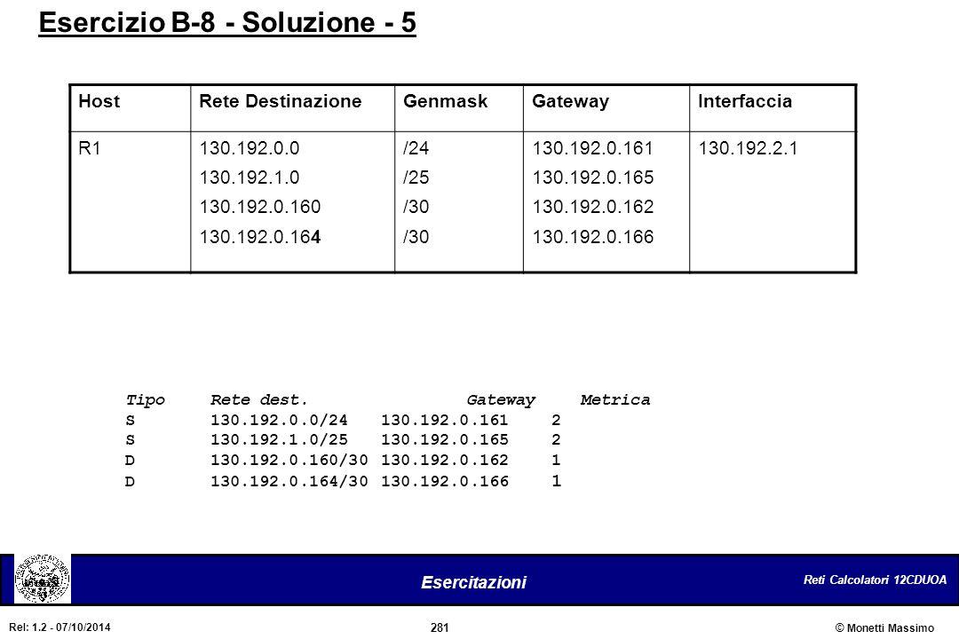 Esercizio B-8 - Soluzione - 5