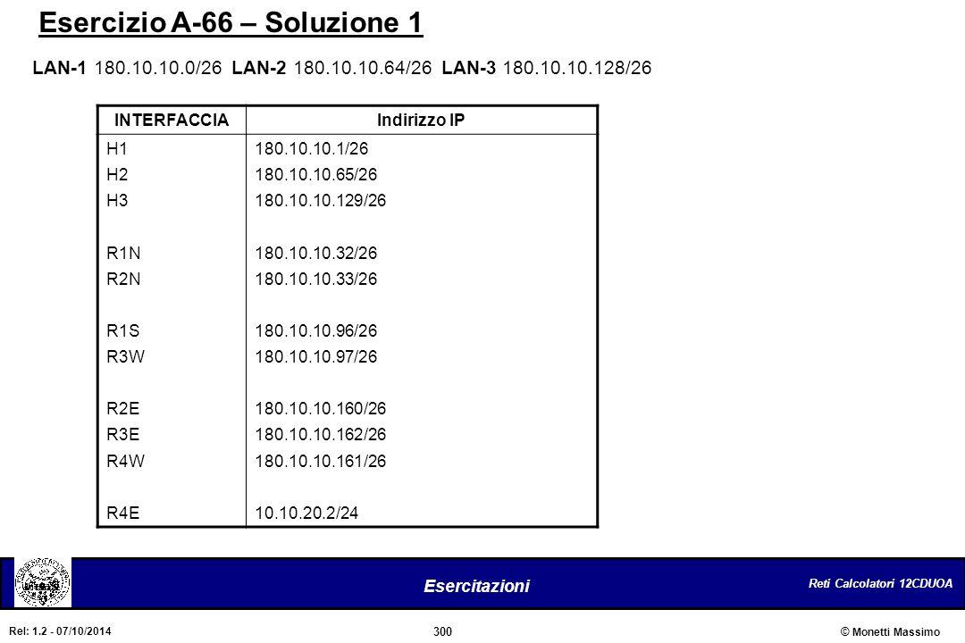 Esercizio A-66 – Soluzione 1