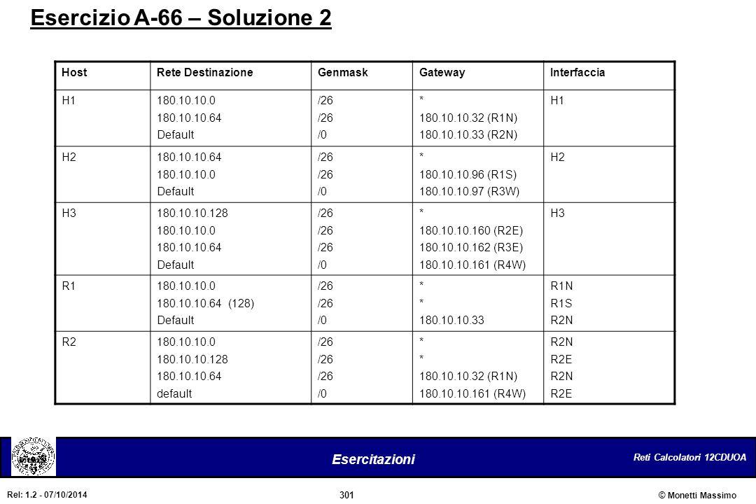 Esercizio A-66 – Soluzione 2