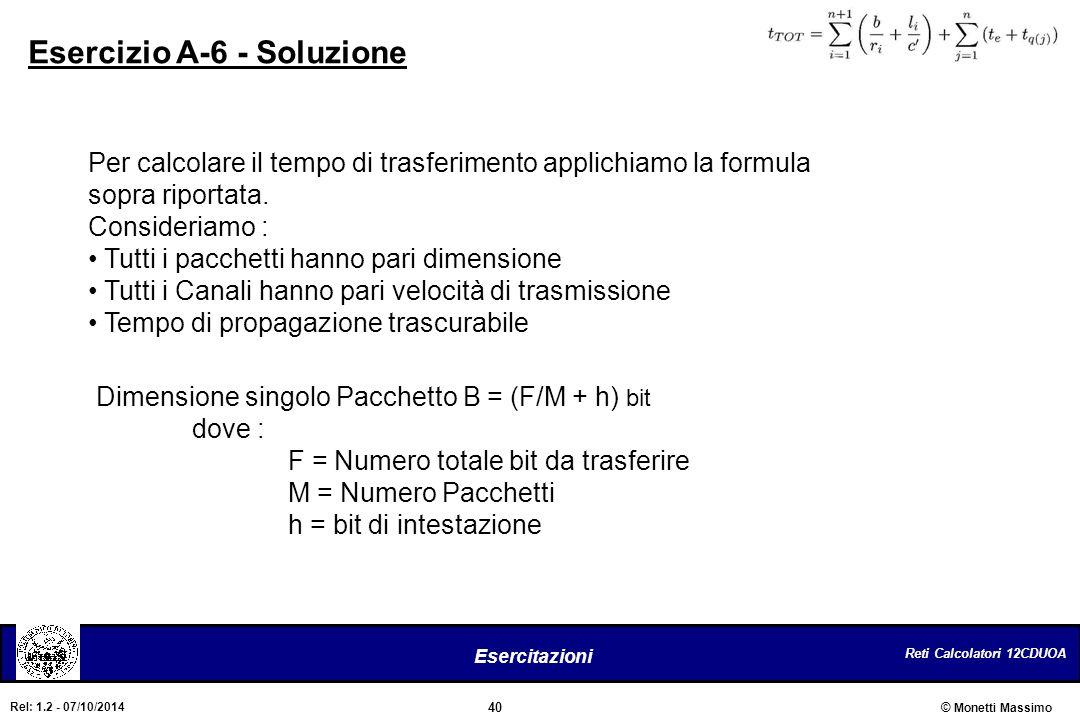 Esercizio A-6 - Soluzione