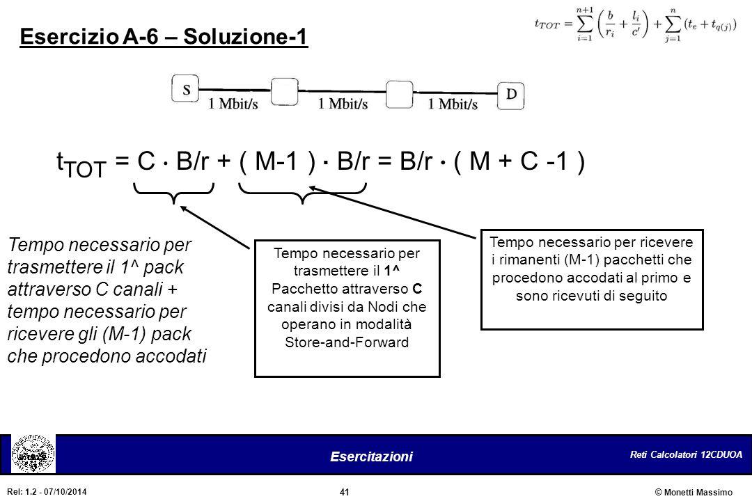 tTOT = C . B/r + ( M-1 ) . B/r = B/r . ( M + C -1 )