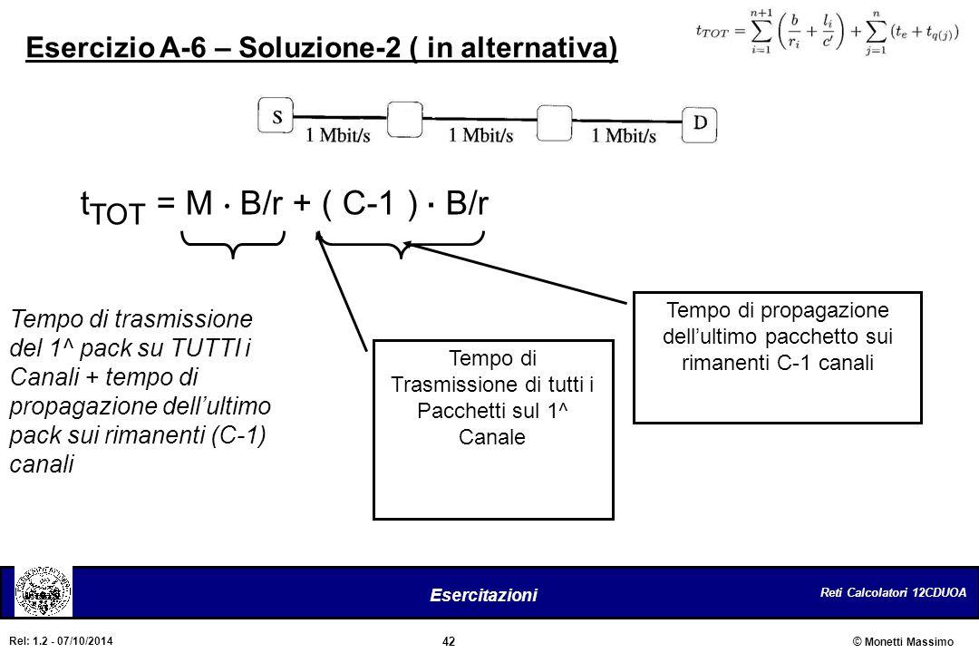 Esercizio A-6 – Soluzione-2 ( in alternativa)