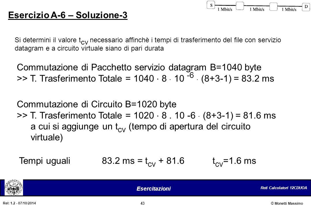 Esercizio A-6 – Soluzione-3