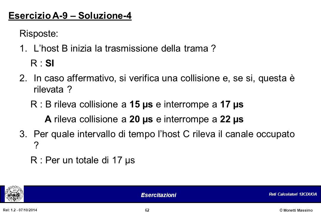 Esercizio A-9 – Soluzione-4