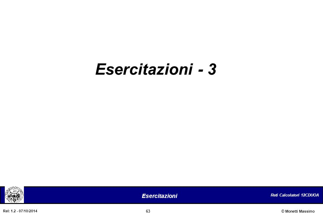 Esercitazioni - 3