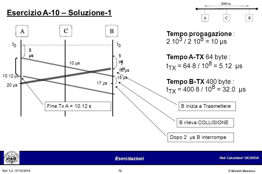 Esercizio A-10 – Soluzione-1