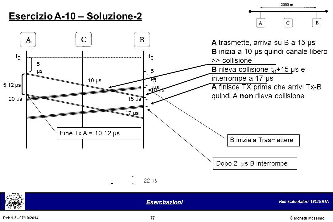 Esercizio A-10 – Soluzione-2