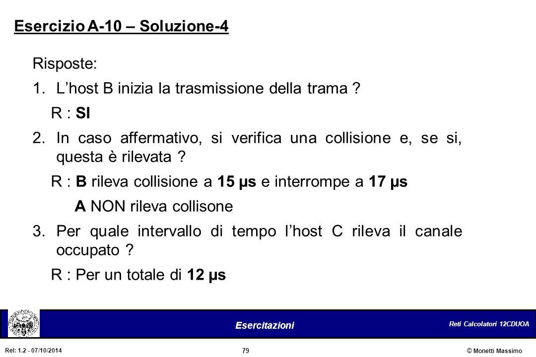 Esercizio A-10 – Soluzione-4