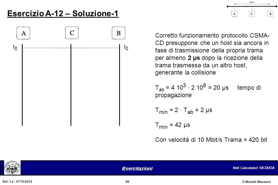 Esercizio A-12 – Soluzione-1