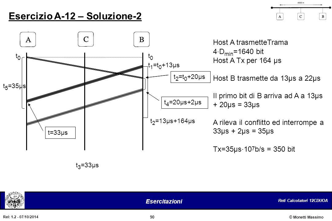 Esercizio A-12 – Soluzione-2