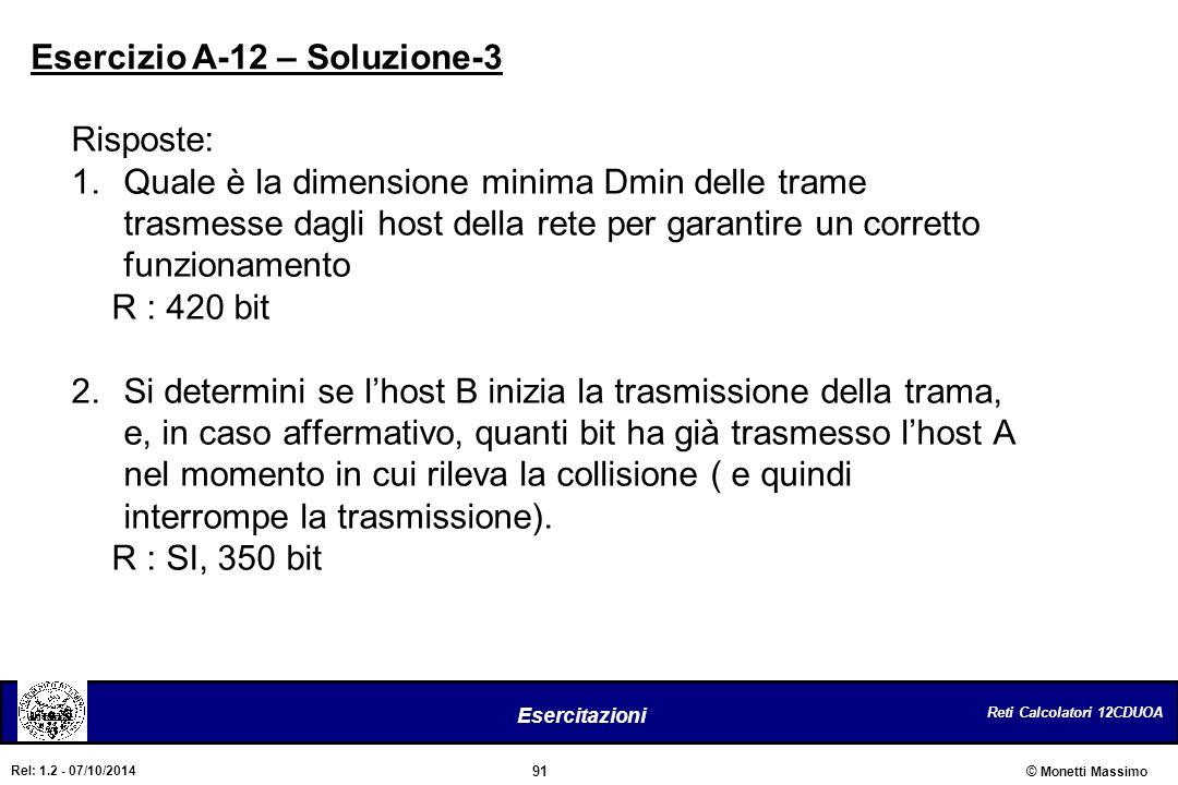 Esercizio A-12 – Soluzione-3