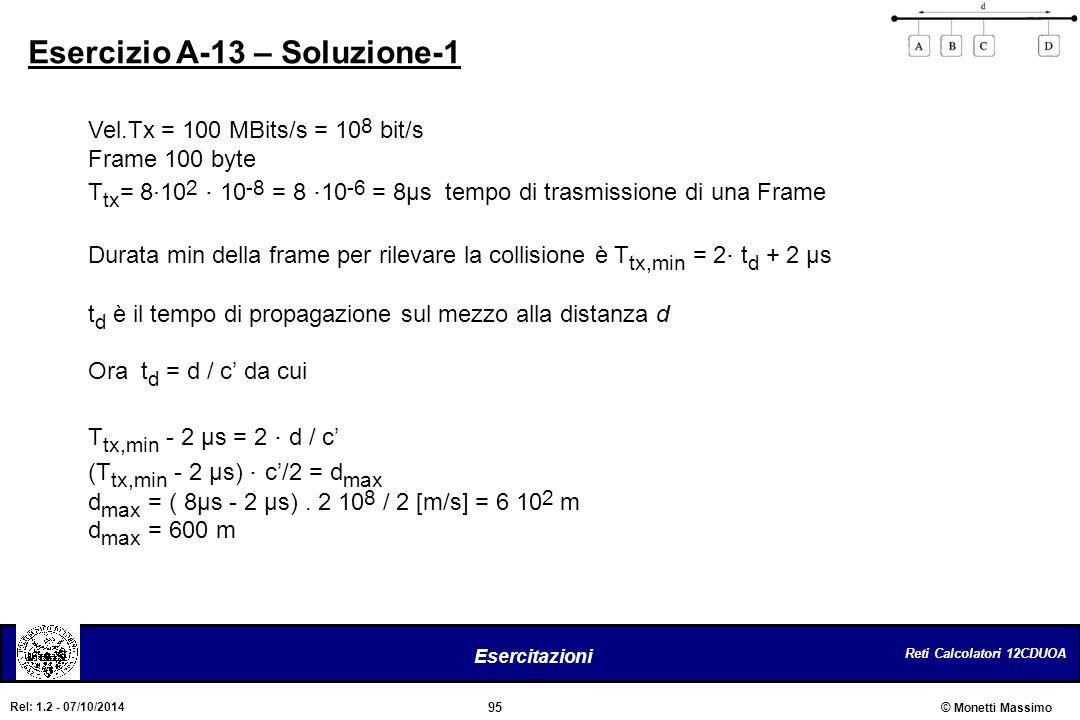 Esercizio A-13 – Soluzione-1