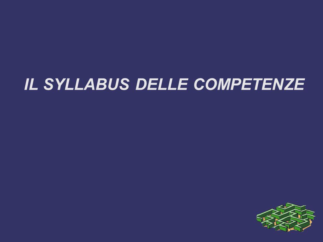 IL SYLLABUS DELLE COMPETENZE
