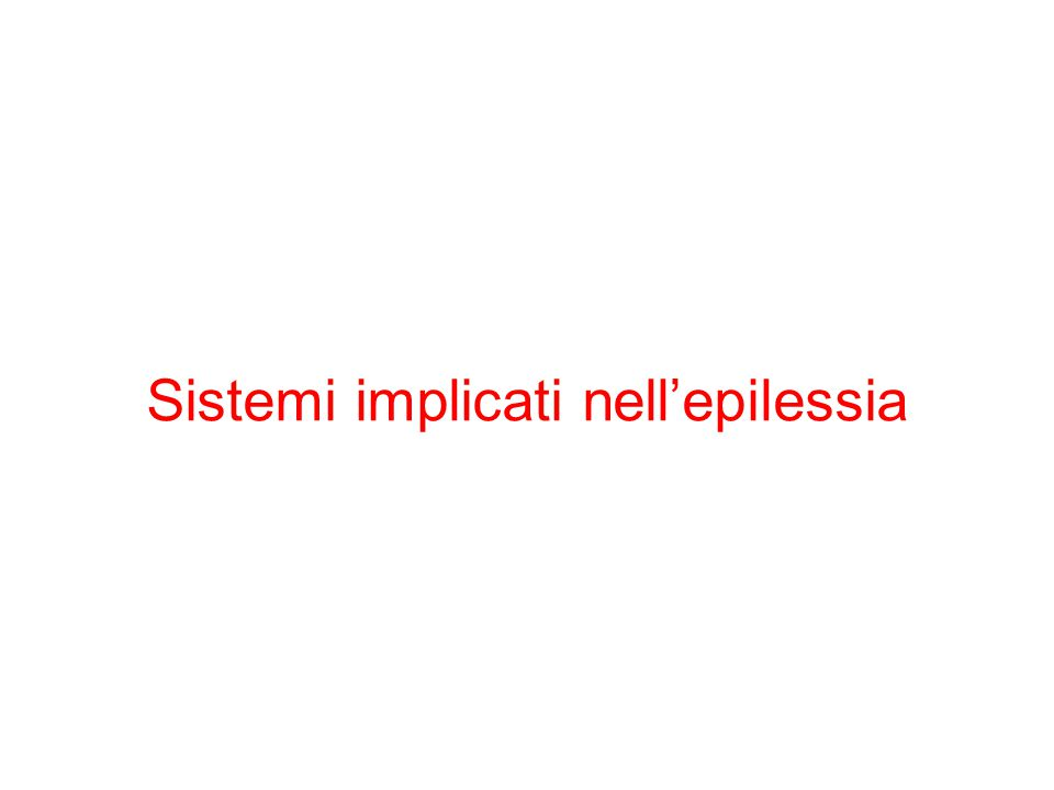 Sistemi implicati nell'epilessia