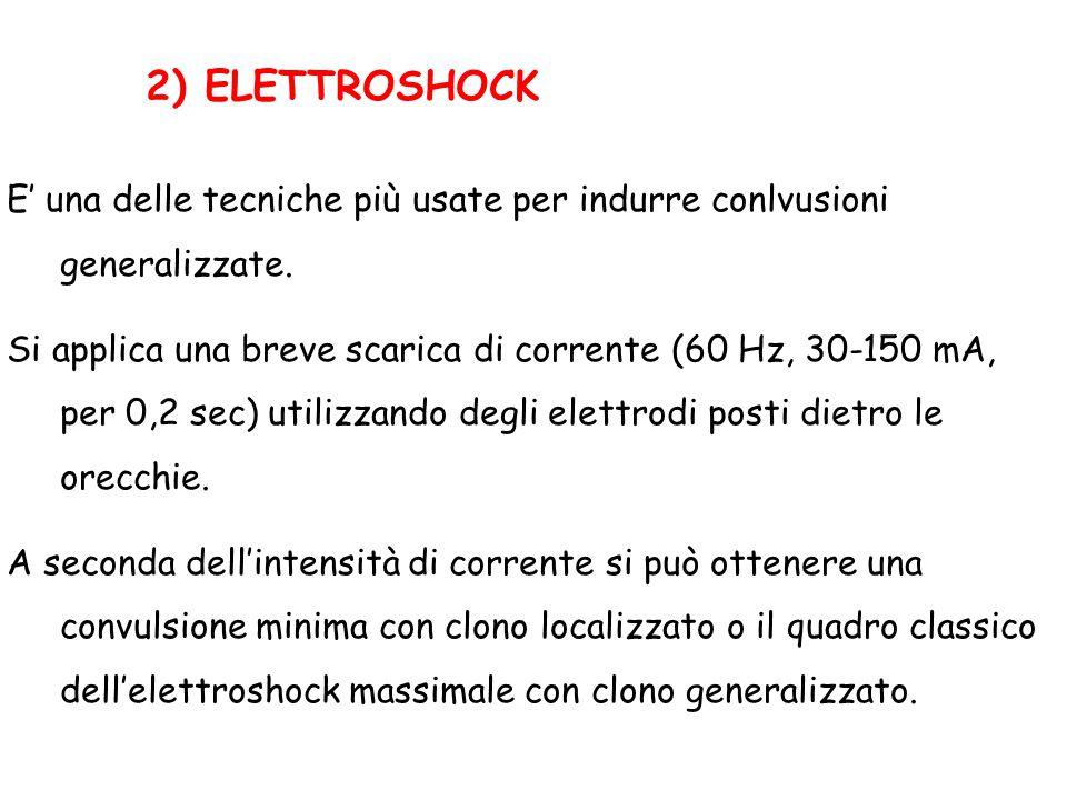 2) ELETTROSHOCK E' una delle tecniche più usate per indurre conlvusioni generalizzate.