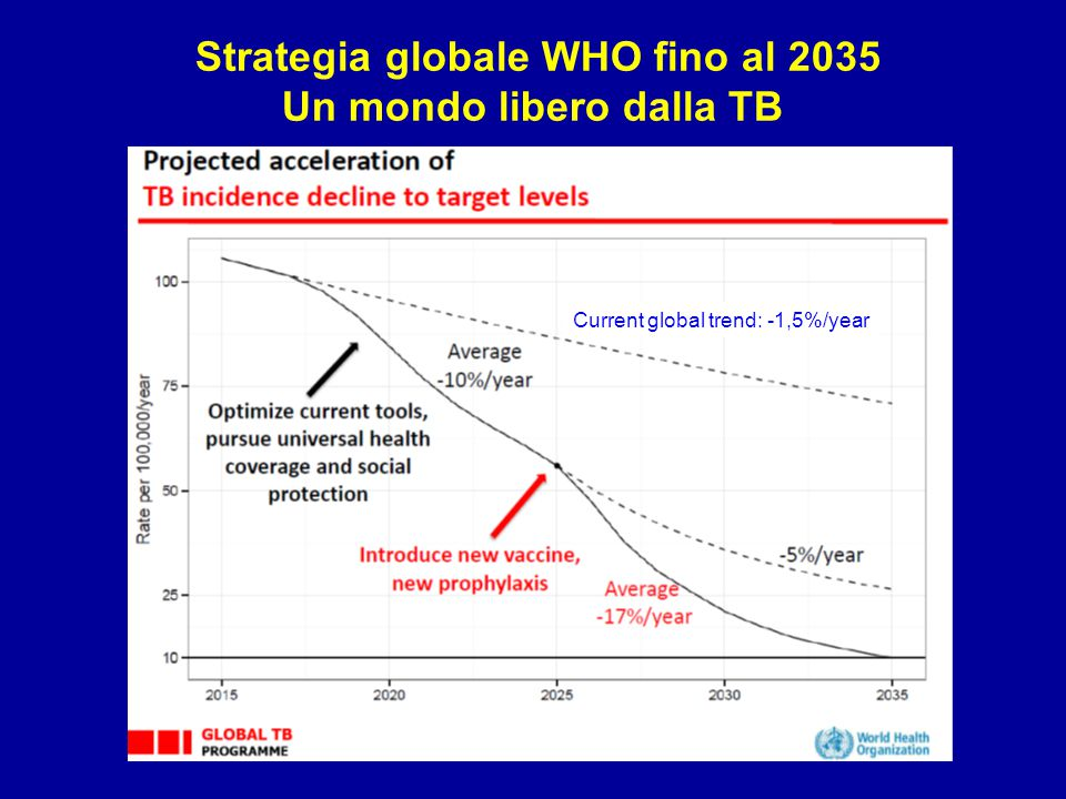 Strategia globale WHO fino al 2035 Un mondo libero dalla TB