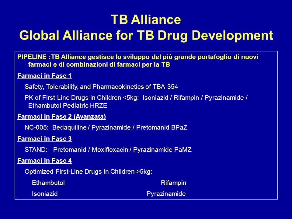 TB Alliance Global Alliance for TB Drug Development