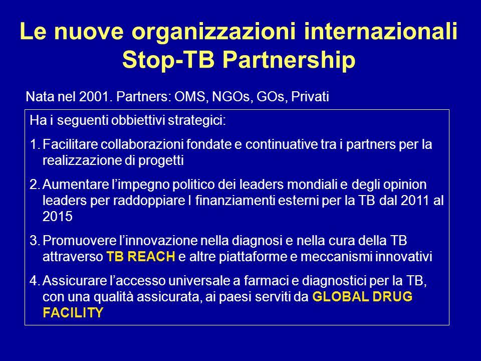 Le nuove organizzazioni internazionali Stop-TB Partnership