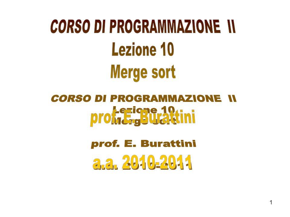 CORSO DI PROGRAMMAZIONE II