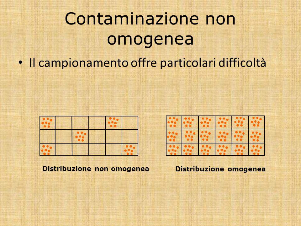 Contaminazione non omogenea