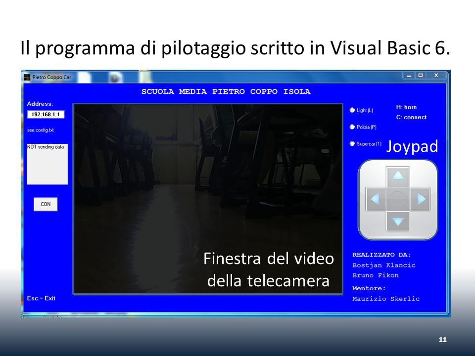 Il programma di pilotaggio scritto in Visual Basic 6.