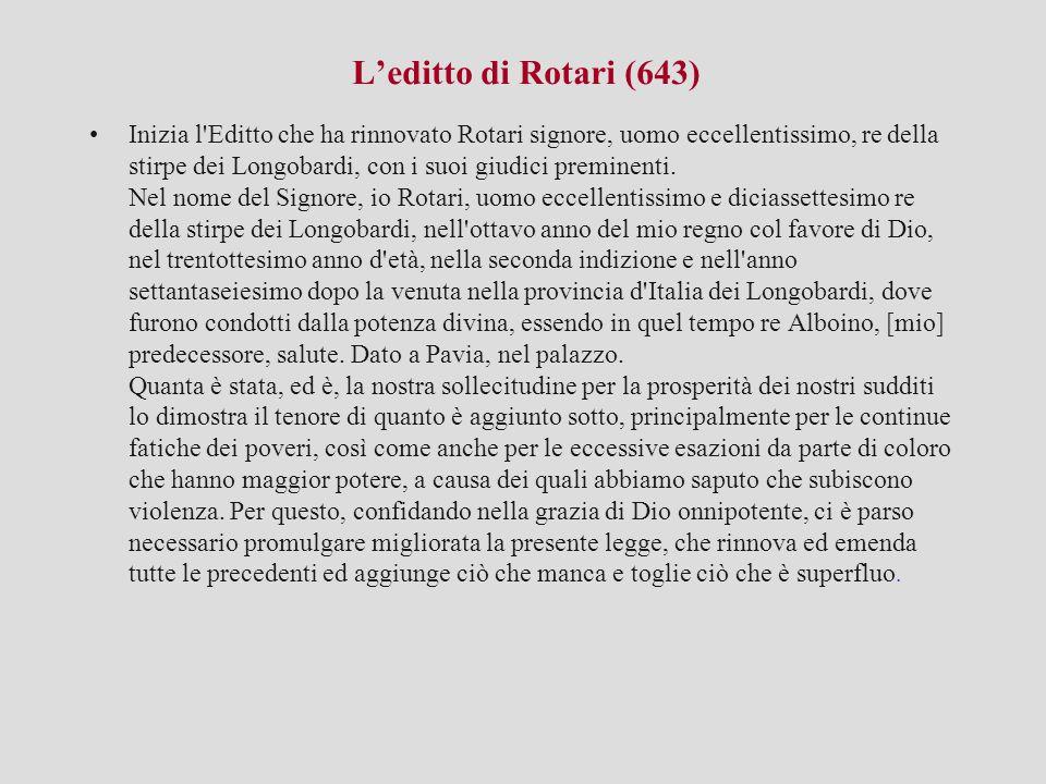 L'editto di Rotari (643)