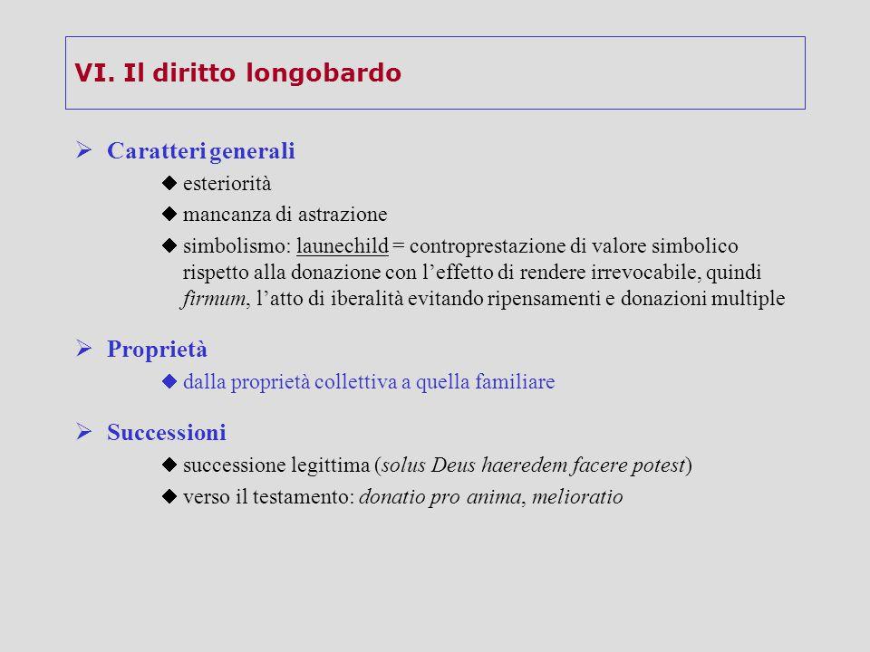 VI. Il diritto longobardo