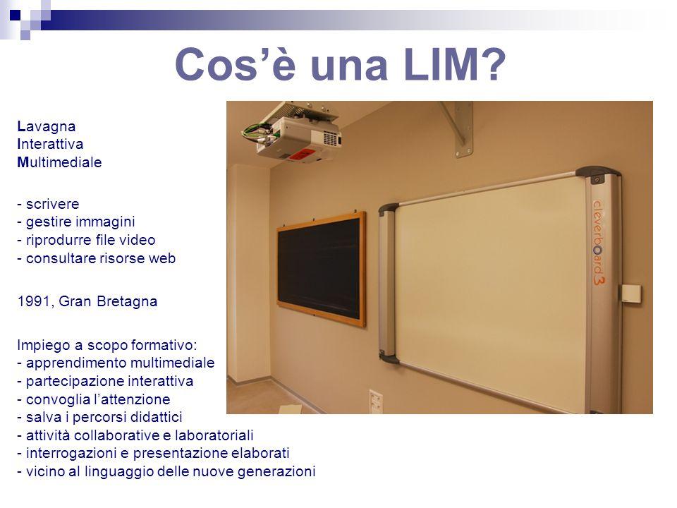 Cos'è una LIM Lavagna Interattiva Multimediale - scrivere