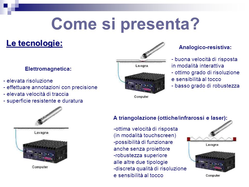 A triangolazione (ottiche/infrarossi e laser):