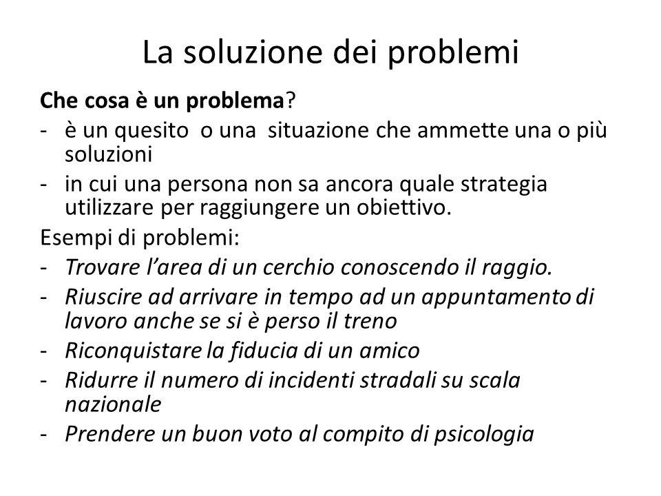 La soluzione dei problemi