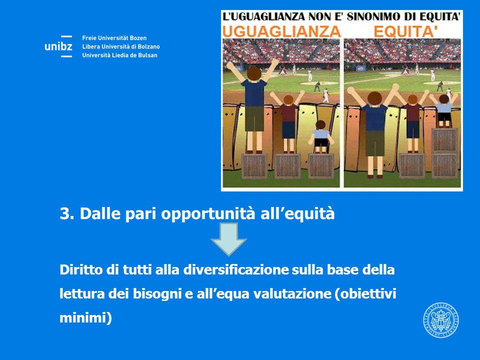 3. Dalle pari opportunità all'equità