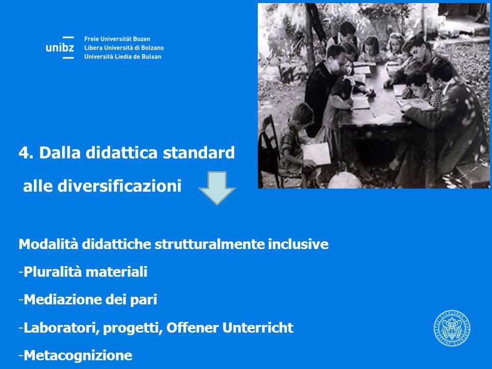 4. Dalla didattica standard alle diversificazioni