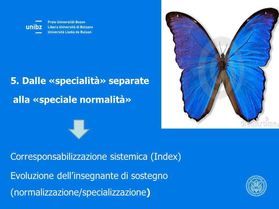 5. Dalle «specialità» separate